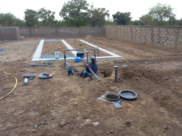 Kläranlage für das Abwasser des Waschplatzes für Fahrzeuge